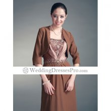 3/4-length Sleeves Chiffon Satin Bridal Jacket/ Wedding Wrap