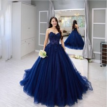 Ball Gown Halter Floor-length Applique Attractive Taffeta Lace Prom/ Evening Dress (TQD017)